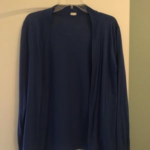 Sweaters - J crew cotton cardigan. Royal blue